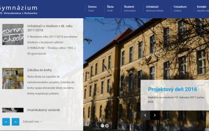 Gymnázium P. O. Hviezdoslava spustilo nový web školy