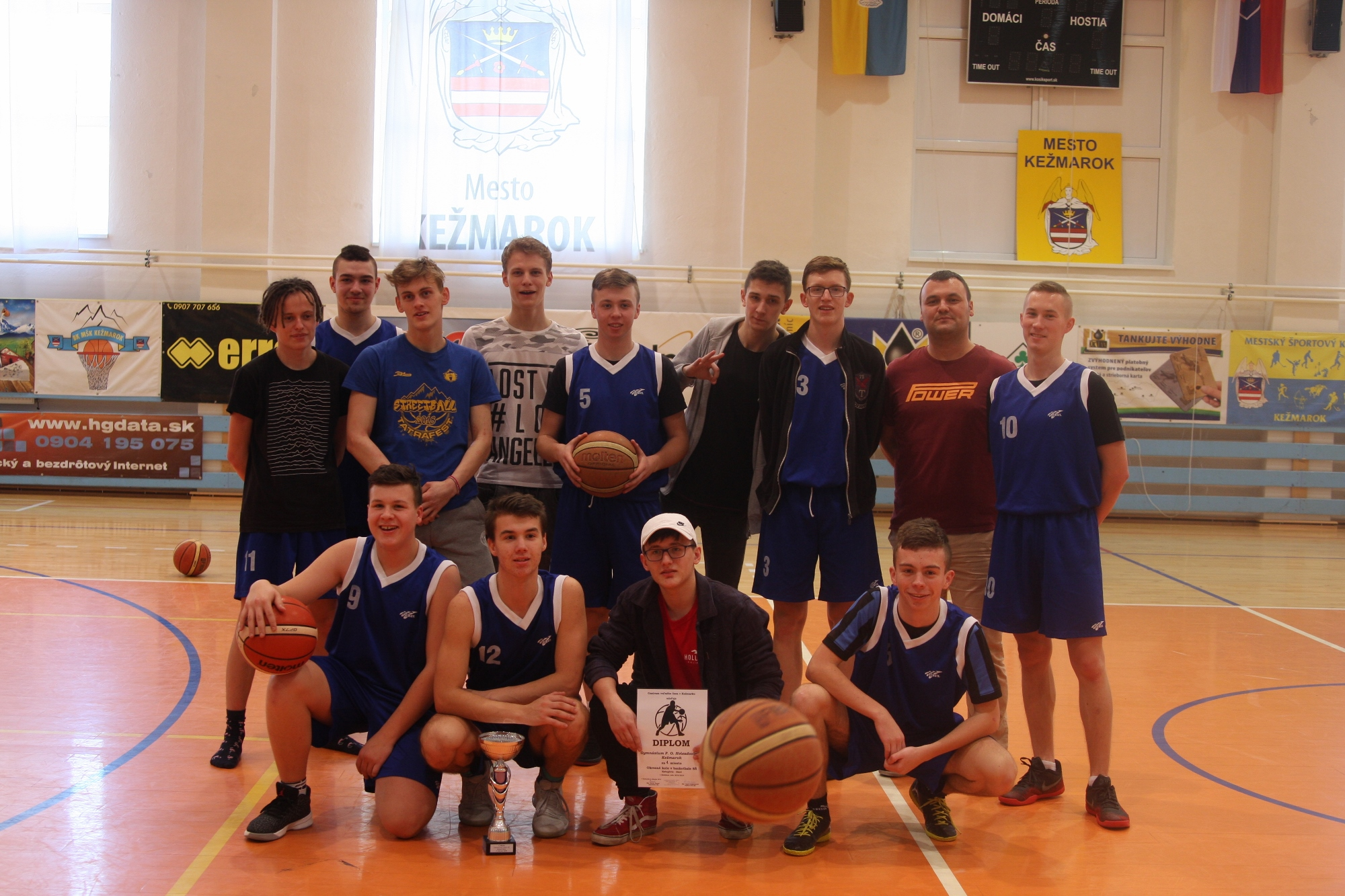 Okresné kolo stredných škôl v basketbale
